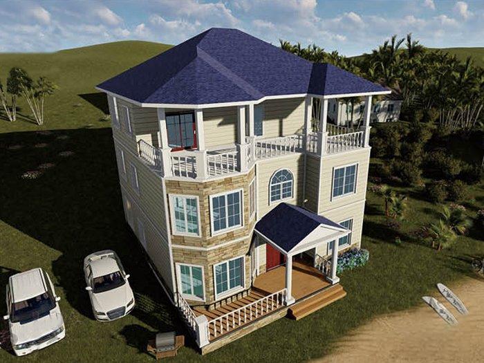 北美三层轻钢别墅