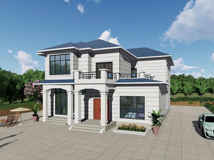 二层中式轻钢别墅
