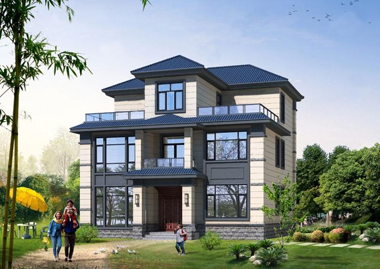 新农村三层带露台实用型小别墅
