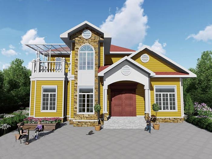 北美轻钢房屋二层